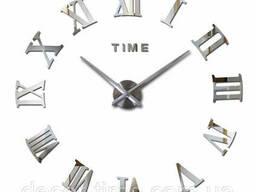 100х100см Декоративные настенные часы, 3D часы на стену ...