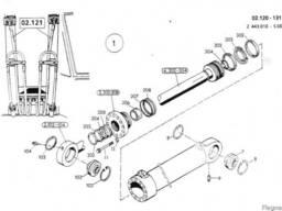 1590961 Ремкомплект гидроцилиндра подъема стрелы O&K MH