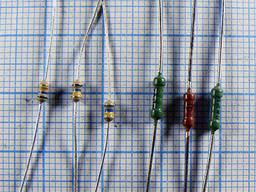 Резисторы выводные 0.125 вт (1/8 вт) 153 номинала отечественные и импортные