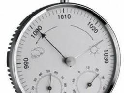 20300642 Барометр TFA с термометром и гигрометром, пластик, хром, d=135 мм