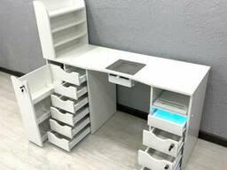 Маникюрный стол с вытяжкой и ультрафиолетом. Модель V386