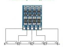 2S 3S 4S Балансир Li-ion батарей из 2-4х аккумуляторов