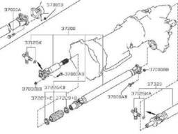 370001DA0D, 37000-1DA0D карданний вал для Nissan X-Trail