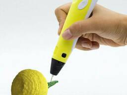 3Д ручка с LCD дисплеем Smart 3D pen-2 Желтая