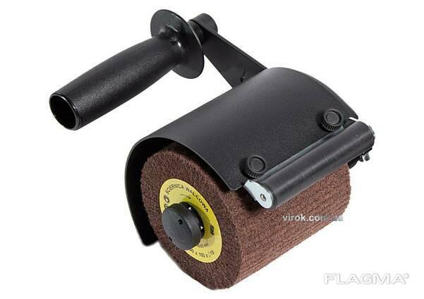 Адаптер для кутової шліфмашини з додатковим роликом GLOB для сатинування та матування. ..