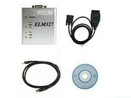 Адаптер сканер OBD2 ELM327 USB metal (оригинал)