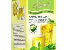 Ахмад зелёный чай пакетированный Фьюжн Мята и мелисса 20. ..