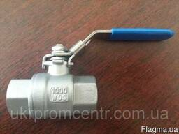 AISI304 ДУ15-100РУ63 кран шаровый нержавейка резьбовой вн-вн