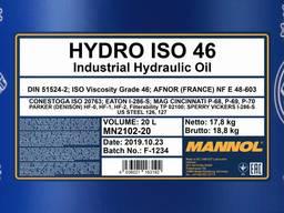 Акция! Гидравлическое масло Mannol Hydro ISO 46 20 л
