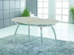 АКЦИЯ! Стол обеденный стеклянный, ультрабелый (раскладной)