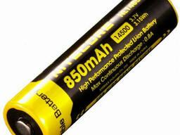 Аккумулятор литиевый Li-Ion 14500 Nitecore NL1485 850mAh защищенный