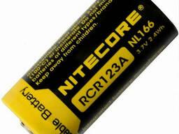 Аккумулятор литиевый Li-Ion CR123A Nitecore NL166 650mAh защищенный