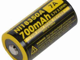 Аккумулятор литиевый Li-Ion IMR 18350 Nitecore 3, 7V (700mAh)