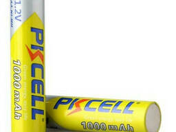 Аккумулятор Pkcell 1.2V AAA 1000mAh NiMH Rechargeable Battery, 2 штуки в блистере цена. ..