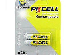 Аккумулятор Pkcell 1.2V AAA 1200mAh NiMH Rechargeable Battery, 2 штуки в блистере цена. ..