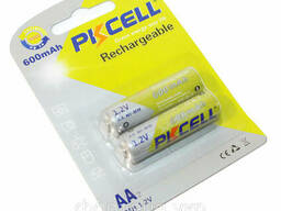 Аккумулятор Pkcell 1.2V AAA 600mAh NiMH Rechargeable Battery, 2 штуки в блистере цена. ..