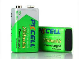 Аккумулятор Pkcell 9V/250mAh, крона, NiMH Rechargeable Battery, 1 штука в блистере цена. ..
