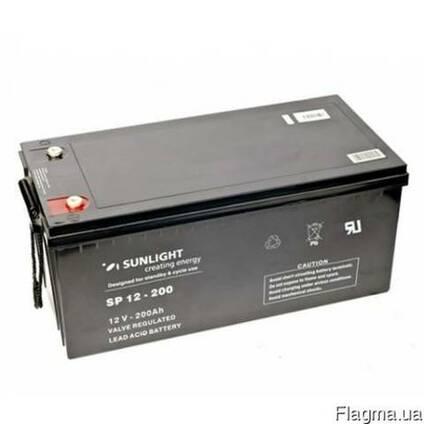 Аккумулятор Sunlight SP12-200, 12Вольт 200Ач.