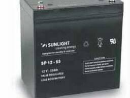 Аккумулятор Sunlight SP12-55, 12Вольт 55Ач.