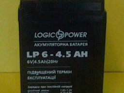 Аккумулятор свинцовый 6 вольт 4,5 ампер на весы, фонарь, ИБП