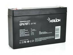 Аккумуляторная батарея Merlion AGM GP670F1 6 V 7Ah ( 150 x 35 x 95 (100 ) ) Q10