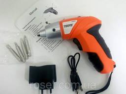 Аккумуляторная отвертка Cordless screwdriver TUOYE Tools ( 4 биты)