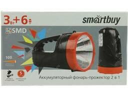 Аккумуляторный фонарь - прожектор 2 в 1 3W 6 SMD, черный