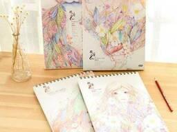 Альбом для рисования А4 50 листов, sketchbook на спирали