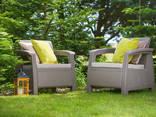 Allibert Corfu Duo Set мебель из искусственного ротанга - фото 1
