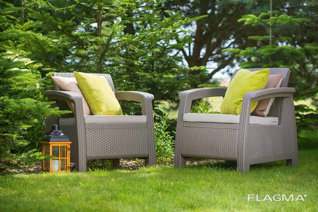 Allibert Corfu Duo Set мебель из искусственного ротанга