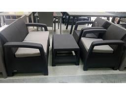 Allibert Corfu Set мебель из искусственного ротанга - фото 3