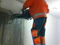 Алмазная не пыльная резка бетона , проемы: Двери , окна , арки