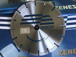 Алмазный отрезной диск Zenezis диаметром 230 мм.