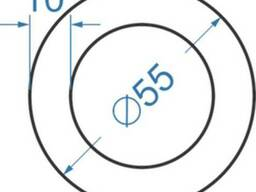 Алюмінієва труба кругла товстостінна ø 55x10 мм