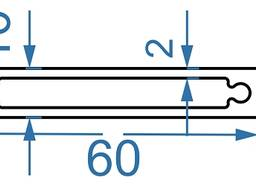 Алюмінієва труба прямокутна 60x10x2