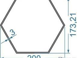 Алюмінієва труба шестигранна 200х173. 21х3, купить, цена