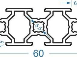 Алюмінієвий верстатний профіль 20x60(анод)