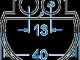 Алюминиевый гик двойной ø44БПЗ-0534 Анод