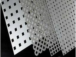 Алюминиевый лист перфорированный с квадратной ячейкой