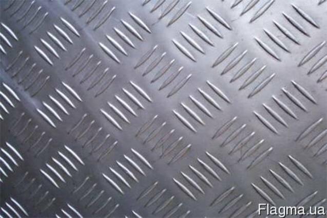 Алюминиевый лист рифленый 1.25х2.5м 3мм