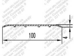 Алюминиевый порожек 100x4БПО-3015 б. п.