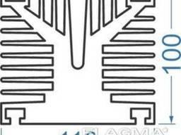 Алюминиевый радиаторный профиль 100х110 мм без покр, в. ..