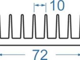 Алюминиевый радиаторный профиль 72х26