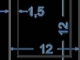 Алюминиевый швеллер 12x12x1, 5