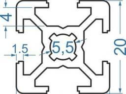 Алюминиевый станочный профиль 20х20 мм