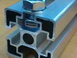 Алюминиевый станочный профиль 80x80 мм без покрытия купить