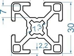 Алюминиевый станочный профиль 30x30 мм АД31 Т5