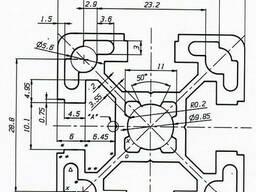 Алюминиевый станочный профиль 40x40 мм АД31 Т5