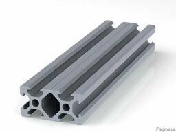 Алюминиевый станочный профиль 40x80 мм. анод. б/п. Купить.