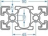 Алюминиевый станочный профиль 45x90 мм АД31 Т5 - фото 1